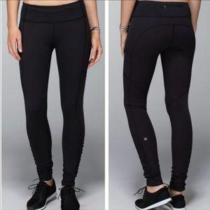 Lululemon | Speed Tight Black Leggings Ruched